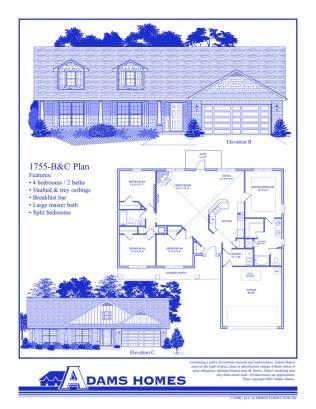 Oak Hill Estates Floor Plans Adams Homes LLC Acopia Home Loans