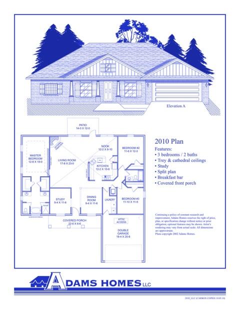 Ashtynn Manor Floor Plans Adams Homes LLC Acopia